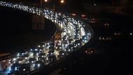 Dönüş yolunda trafik çilesi başladı