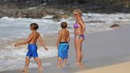 Britney Spears oğullarıyla tatilde