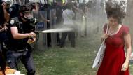 Çocuk parkında Kırmızılı Kadın tartışması