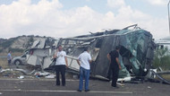 Başbakanlık otobüsü kaza yaptı