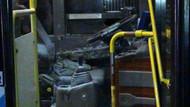 Halk otobüsüne molotoflu saldırı!