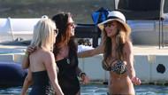 Nicole Scherzinger rahat rahat güneşlendi!