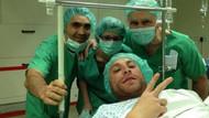 Gökhan Töre'den ameliyathane pozu