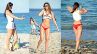 Plajda selfieyi ihmal etmedi