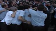 Mezuniyet törenindeki protestoya biber gazlı müdahale