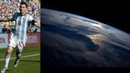 Messi'nin golünü uzaydan kutladı