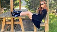 Mine Tugay'ın bacak dekolteli pozu Instagram'ı salladı