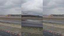 İstanbul Havalimanı'nda rüzgar uçağın inişini engelledi