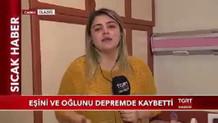 Depremzedenin dramı TGRT Haber muhabiri Sultan Akten'i ağlattı
