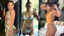Jennifer Lopez bikinili paylaşımıyla Instagram'ı salladı