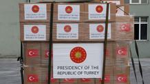 Yardım kolilerine Türkiye Cumhuriyeti yerine Cumhurbaşkanlığı forsu