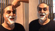 Arkadaşları ABD'den gelen Arto'yu tıraş edip eve öyle aldı