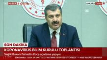 Sağlık Bakanı Koca'dan flaş açıklamalar: CANLI