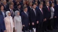 İsmail Günaçar İstiklal Marşı'nı okumayınca Reisçiler böyle ayağa kalktı
