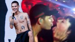 Rapçi Slowthai mide bulandırdı! Kadın hayranının ağzına tükürdü