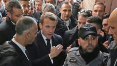 Fransa Cumhurbaşkanı Macron İsrail polisiyle tartıştı