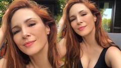 Mine Tugay'ın dekolteli selfiesi binlerce beğeni aldı