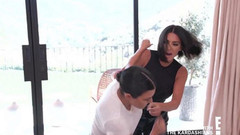Kardashian ailesi karıştı! Kim ve Kourtney'den yumruk yumruğa kavga