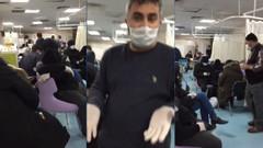 Koronavirüs hastanesinde çekilen görüntüler sosyal medyayı salladı
