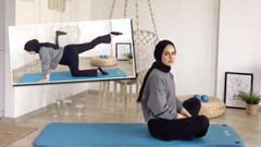 Başörtülü Duygu Akın'ın spor videosuna sosyal medyada iğrenç yorumlar