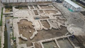 İş hanı inşaatındaki kalıntı Antik Roma'dan imparatorluk salonu çıktı