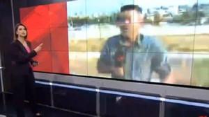 CNN Türk canlı yayınında patlama anı