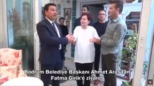 Bodrum'da Ahmet Aras'tan Fatma Girik'i duygulandıran ziyaret
