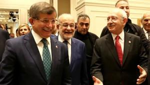 AK Parti'den Davutoğlu, Kılıçdaroğlu ve Karamollaoğlu'nun fotoğrafına ilk yorum