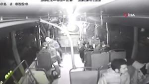 Şoför otobüsteki tacizciyi böyle dövdü