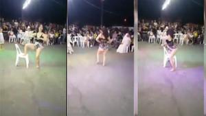 Sünnet düğününde twerk yapan kadın sosyal medyayı salladı