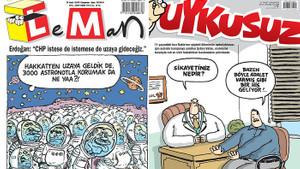 İşte 2019'un en iyi mizah dergisi kapakları: Leman'ın Erdoğan'ı uzaya gönderdiği kapak birinci oldu