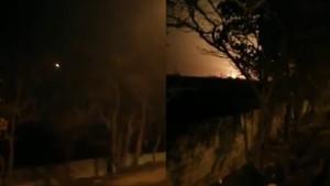 İran'da 180 kişiyi taşıyan yolcu uçağı düştü! Uçağın düşme anı kamerada