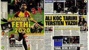 Fenerbahçe Galatasaray derbisini hangi gazete nasıl gördü?