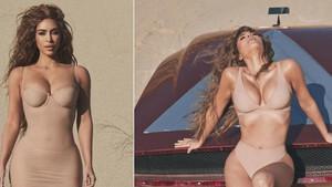 Kim Kardashian'dan çölde çıplak serisi