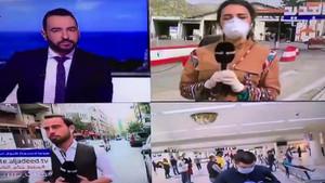 Muhabir canlı yayında yüksek ateşten bayıldı!