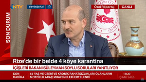 Soylu açıkladı: Türkiye'de 12 yerleşim birimi koronavirüs nedeniyle karantina altında