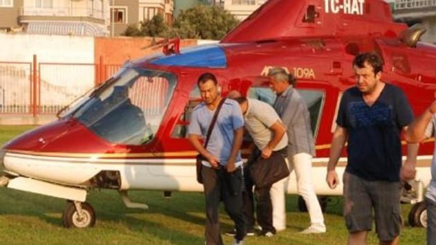 Serdar Ortaç Erdek'e helikopterle geldi!