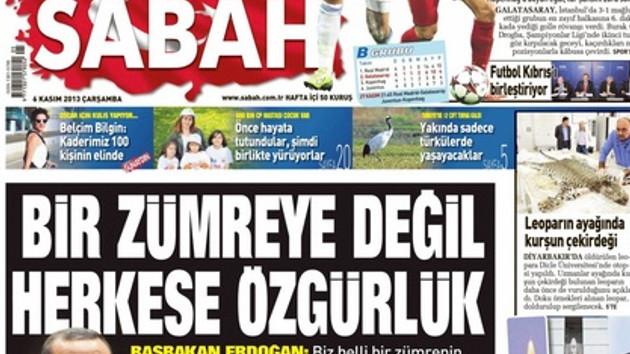 Sabah, Erdoğan'ın o sözlerini yine görmedi!
