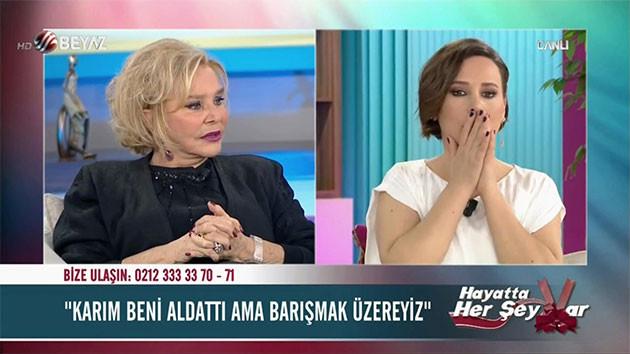 Beyaz TV'de Selin Karacehennem'e canlı yayında seyirciden ağır küfür