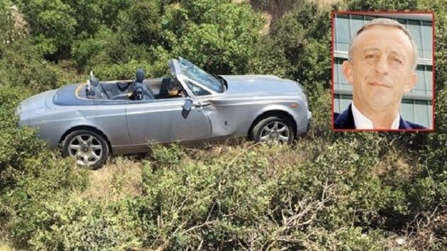 Ali Ağaoğlu'nun şoförü 800 bin Euro değerindeki Rolls Royce'la kaza yaptı!