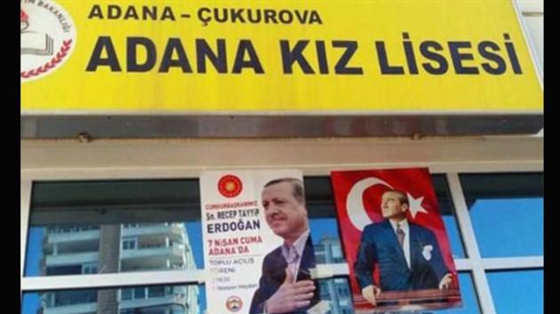 Erdoğan afişleri öğrencileri ayağa kaldırdı