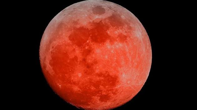 Kanlı Ay Tutulması başladı! Kanlı Ay'ı canlı izlemek için tıklayın