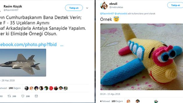 Cumhurbaşkanı Erdoğan'dan F-35 örneği isteyen Antalyalı esnaf olay oldu