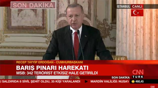 Erdoğan'dan flaş açıklama: Sağdan soldan tehditler geliyor, harekatı durdurun diye..