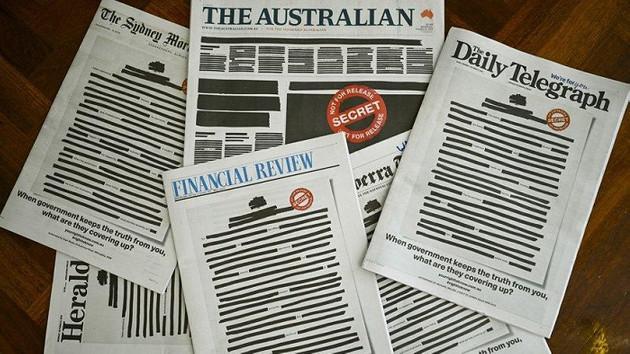 Avustralya şokta: Bütün gazeteler bu şekilde basıldı