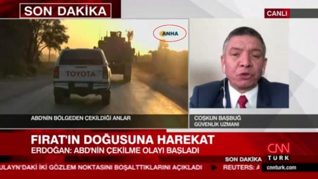 CNN Türk ekranında PKK ajansının görüntüsü