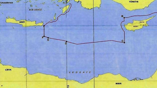 Türkiye'nin Akdeniz'deki yetki sınırları açıklandı