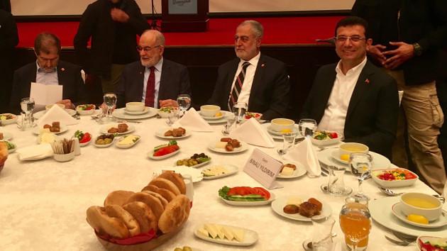 Saadet Partisi'nin iftar programına İmamoğlu da katıldı: Bu iftar, ortak aklın iftarıdır