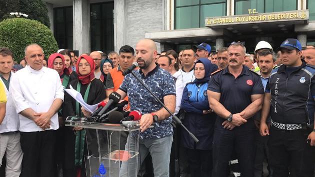 Bu da oldu: İBB çalışanları İmamoğlu karşıtı miting yaptı!