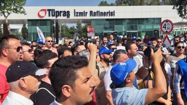 TÜPRAŞ işçileri Koç Holdinge meydan okuyor: Fabrikadan çıkmıyoruz